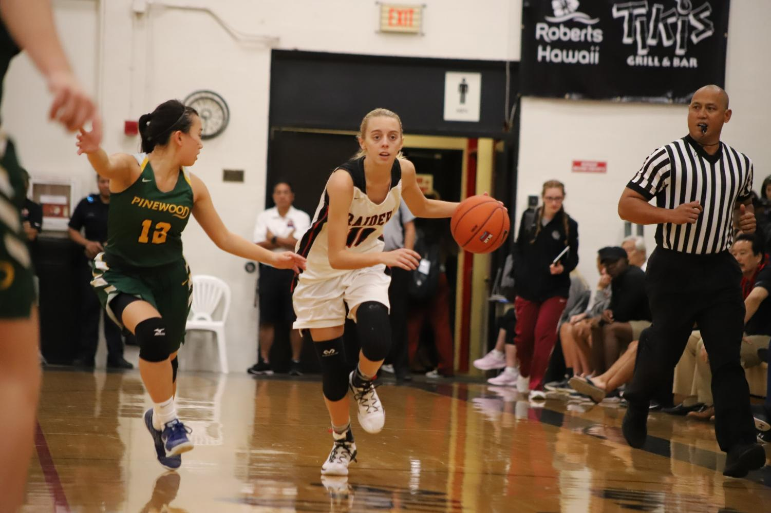 Alexis Huntimer drives down the court in last year's Iolani Classic